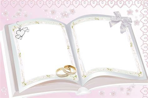 Transparent Pink Wedding Frame   Photo Frames   Wedding