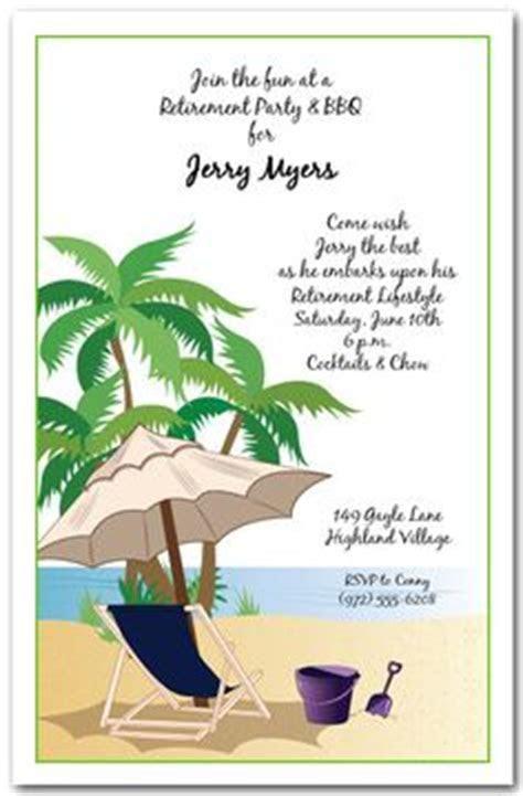 Beach Theme Starfish Retirement Party Invitation