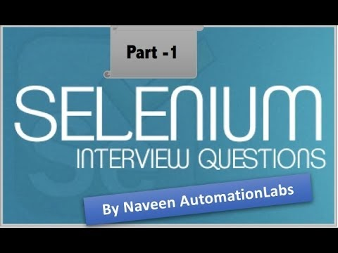 Naveen AutomationLabs: Different Java & Selenium Interview Questions