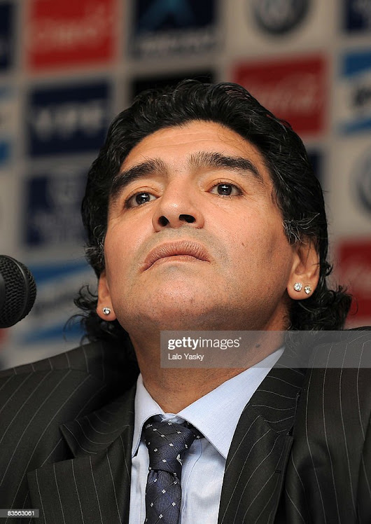 Image: Diego Maradona Presented as New Argentina Football Coach Photos ...