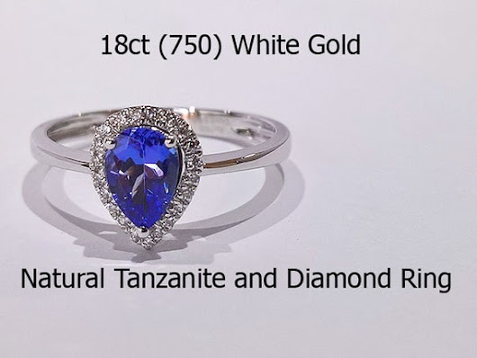 18ct 750 white gold Natural Tanzanite and by HatziJewellers
