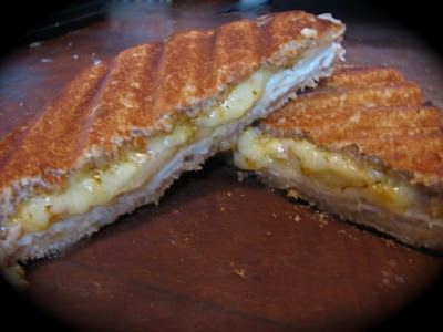 grilled cheese sandwich turkey and pear