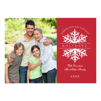 Snowflake Holiday Photo Card