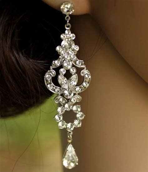 17 Best ideas about Bridal Chandelier Earrings on