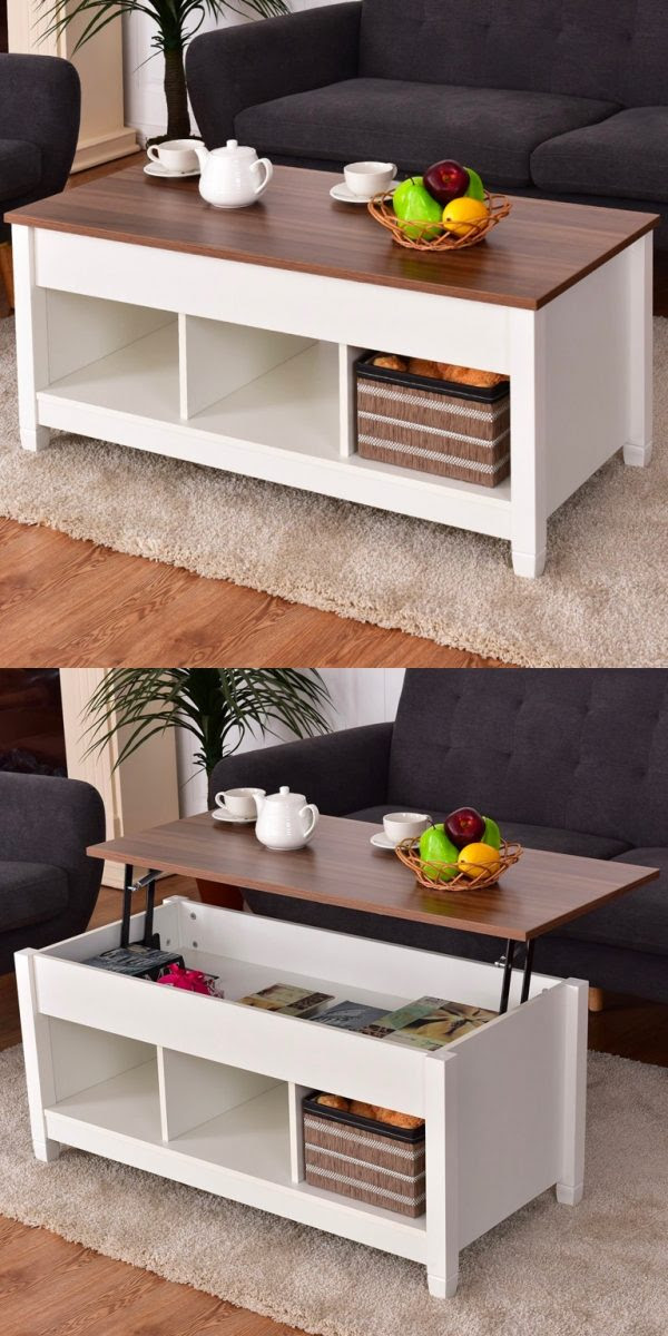 33 Beautiful Lift-Top Coffee Tables To Help You Declutter and Multi-Task