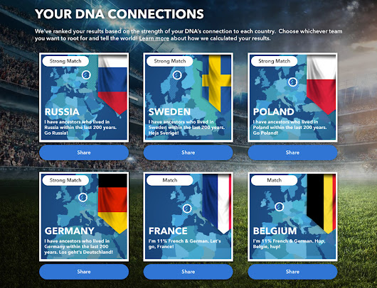 What World Cup team should you root for? Your DNA will tell you - Spudart