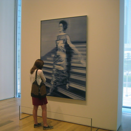 Woman viewing Richter's Woman descending a staircase, Art Institute of Chicago