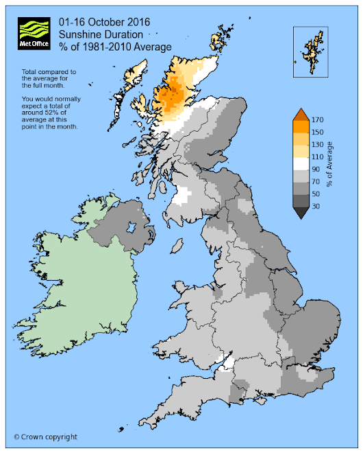 October – sunny and dry for many so far