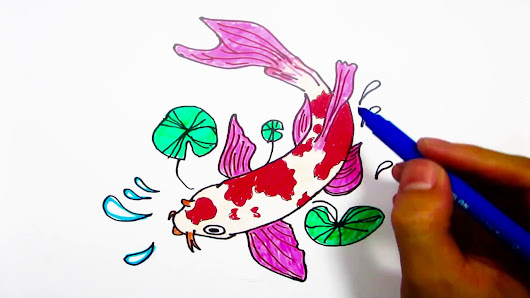 Coloring Pages Question Mark : Learn how to draw and coloring for kids a koi fish step by step