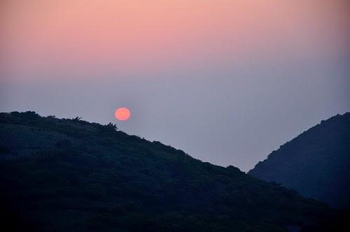 大屯山夕陽