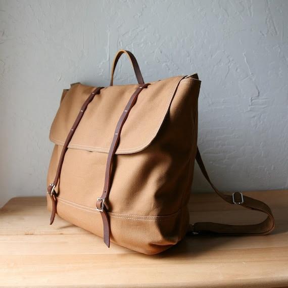 The Rucksack in Cinnamon Brown