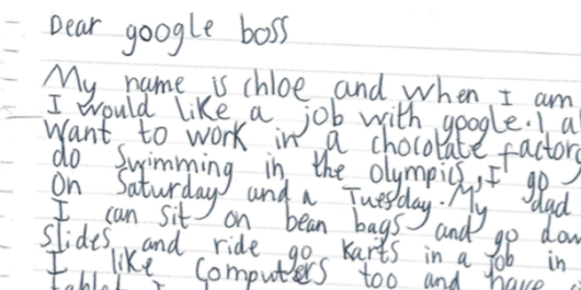 A 7-year-old girl asked Google for a job and got a personal response from CEO Sundar Pichai