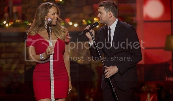 Watch: Mariah Carey performs her Xmas classic on Buble's Christmas special...