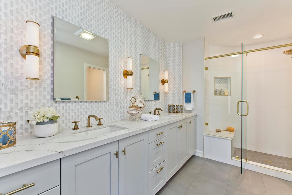 Elegant Master Bathroom - CairnsCraft Design & Remodel