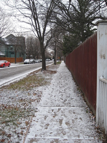 it snowed.