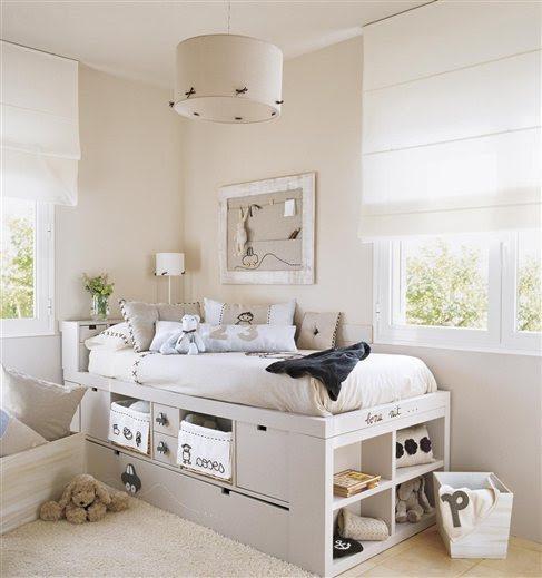 Una cama elevada