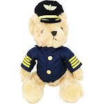 """PilotMall.com Large Plush Captain Bear 16"""" Tall"""