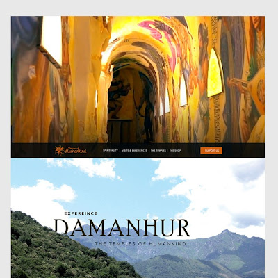 Website for the magnificent and world famous Damanhur Temples of Humankind, in Italy | WordPress theme design contest