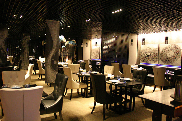 Mikuni's interior is modern, elegant and dressed in high contrasts