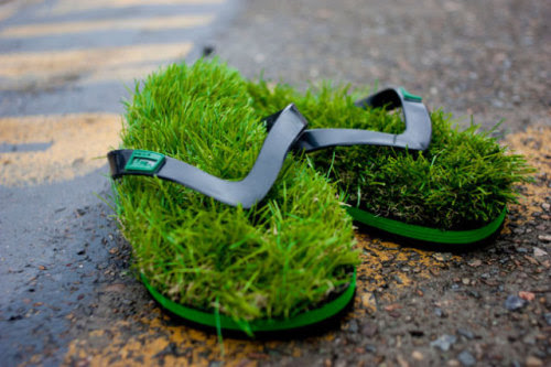 Grassy Soles, Never Need Watering  Kusa Flip Flops... | THE KHOOLL