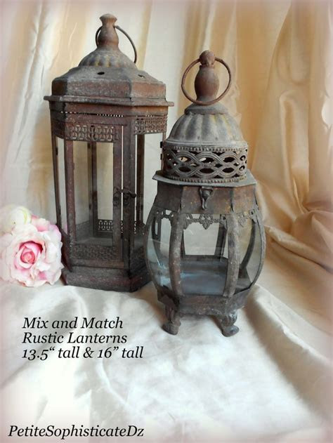 SALE Mix & Match Rustic Lanterns,indoor/outdoor Rustic