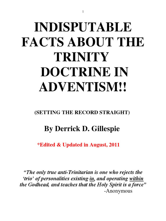 Trinity- Indisputable Facts in Adventism