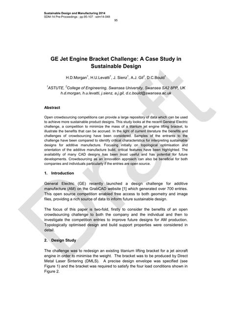 (PDF) (2016) GE Jet Engine Bracket Challenge: A Case Study