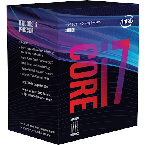 Intel Core i7-8700K 3.7 GHz 6-Core Processor - 12 MB - LGA1151 Socket - Retail