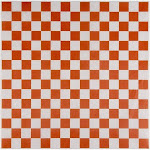Juvale Deli Paper Basket Liner - 200-Pack 12-Inch Orange and White Checkered Sandwich Wrap Sheets, Grease-Proof Food Wrapping Square Liners, for Fast Food
