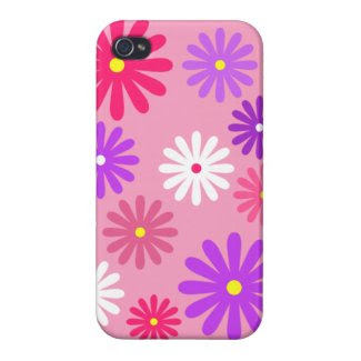 Pink Daisy iPhone 4 Case