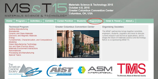 Invitation to Materials Science & Technology 2015