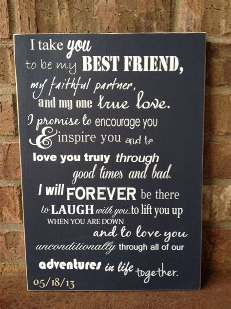 I Take You To Be My Best Friend Wedding Sign   Perfect