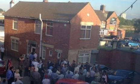 Worshippers escape as lightning hits Sikh temple