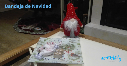 Bandeja de Navidad - decoupage | Kits de Manualidades | We Make DIY
