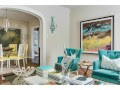 turquoise accents living room