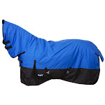 Tough-1 600D Waterproof Poly Full Neck Turnout Blanket 69inch, Royal Blue