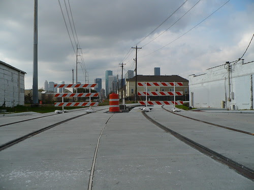 Light Rail Construction in East Downtown