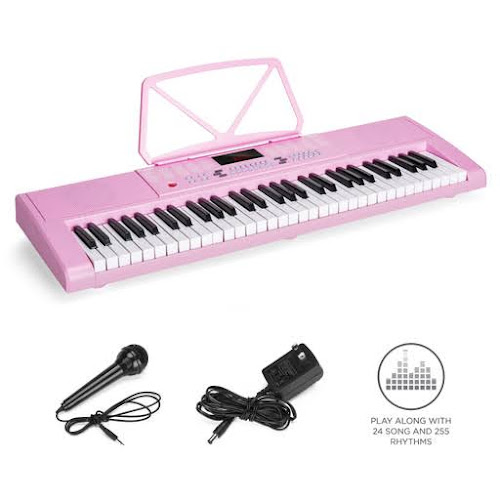 Best Choice Products 61-Key Portable Simulation Keyboard Piano Musical Instrument w/ Speakers, Record & Playback - Pink