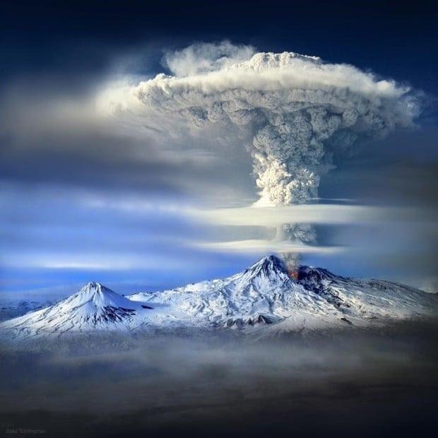 volcan en erupcion en turquía