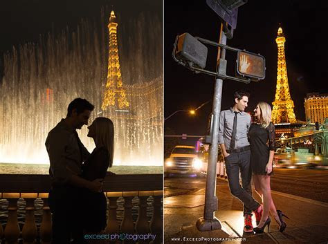 Las Vegas Strip Engagement Photo Session   Creative Las
