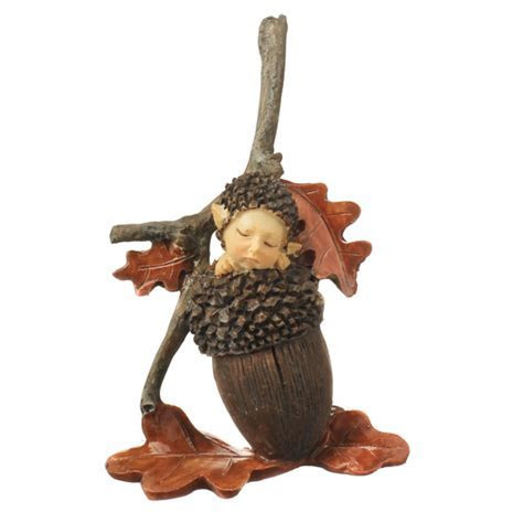 Baby Acorn Fairy   Fairy Garden Supplies   Dollhouse