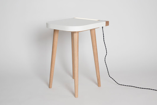A Dual Purpose Bedside Table by Jake Barker - Design Milk