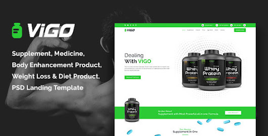 VIGO-Health Supplement Landing Page PSD Template by themebuzs | ThemeForest