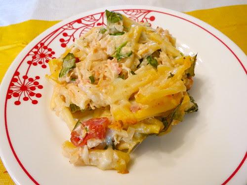 Spinach and Chicken Pasta Bake