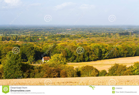 Surrey Countryside Guildford Uk Stock Photography - Image: 37660552