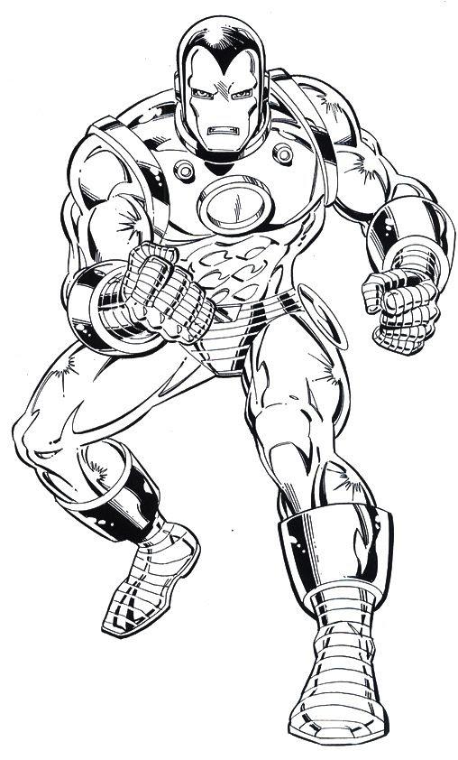 Iron Man Alert Coloring Page   Clip Art   Pinterest