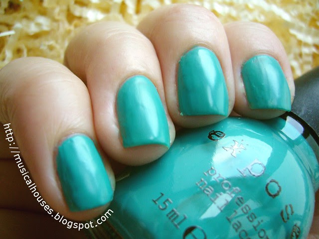 exposed nail polish aqua baby
