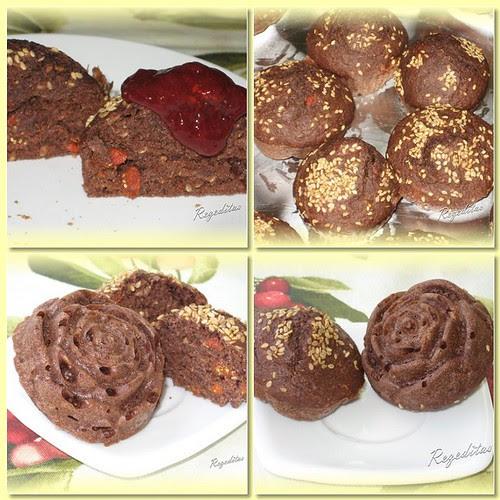 Muffins de cacao, semillas y bajas Goji