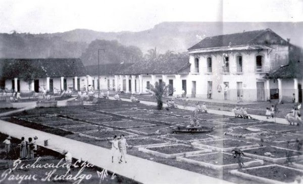 Parque Hidalgo de Pichucalco, a principios del siglo XX. Foto: MF México