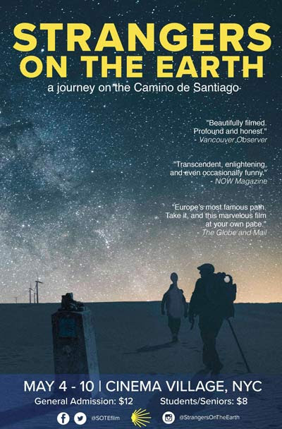 STRANGERS ON THE EARTH opens May 4 in New York and June 1 in Los Angeles – ULTREYA TOURS BLOG